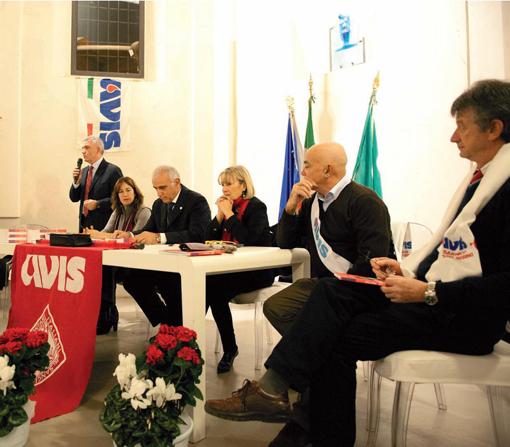 (Nella foto da sinistra: Serafino Falconi, Giovanni Paris, Dometti e Plinio Apollonio) (foto Vezzoli)